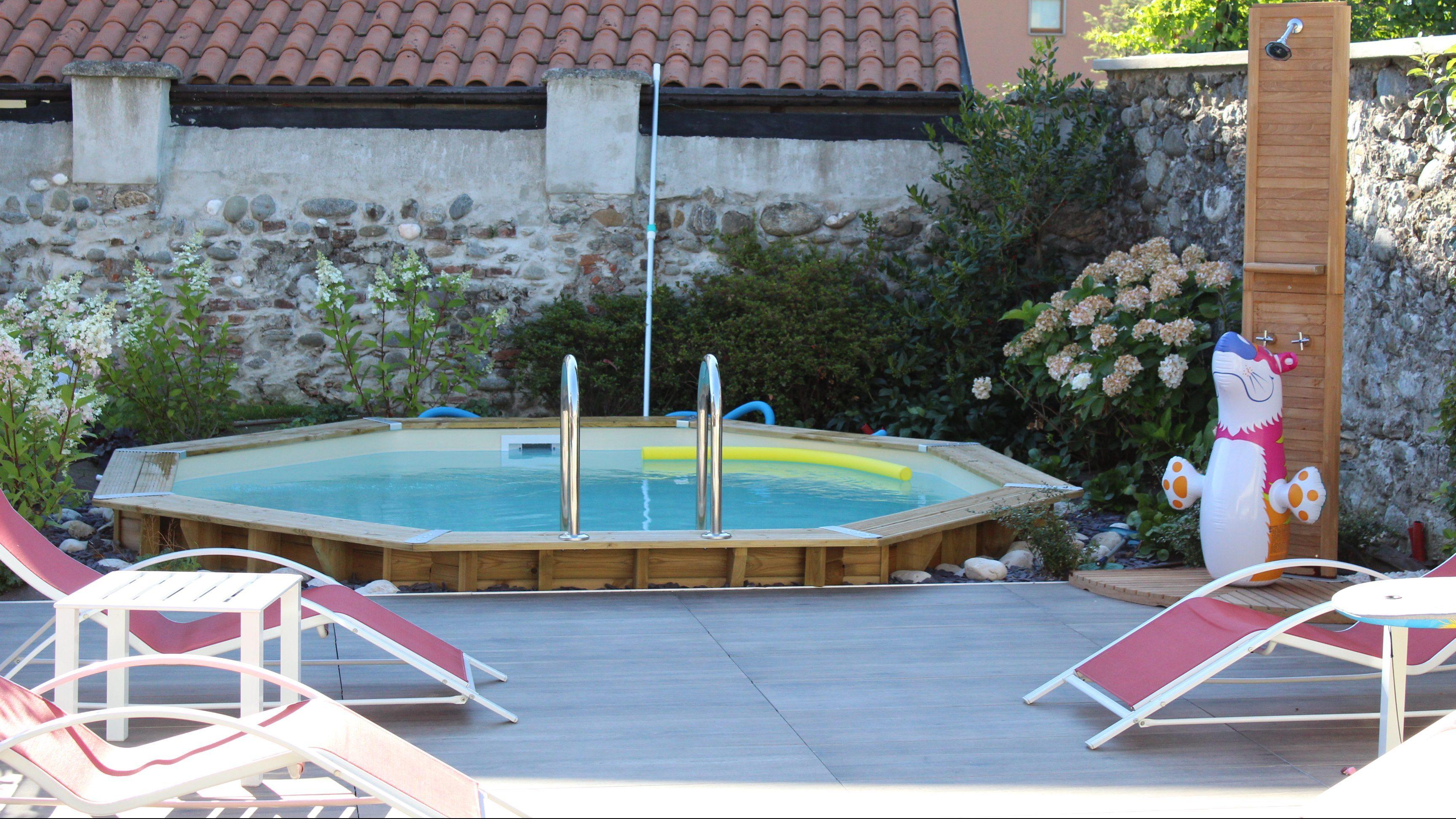 Giardino Romagnano sesia verdedeisgn piscina legno