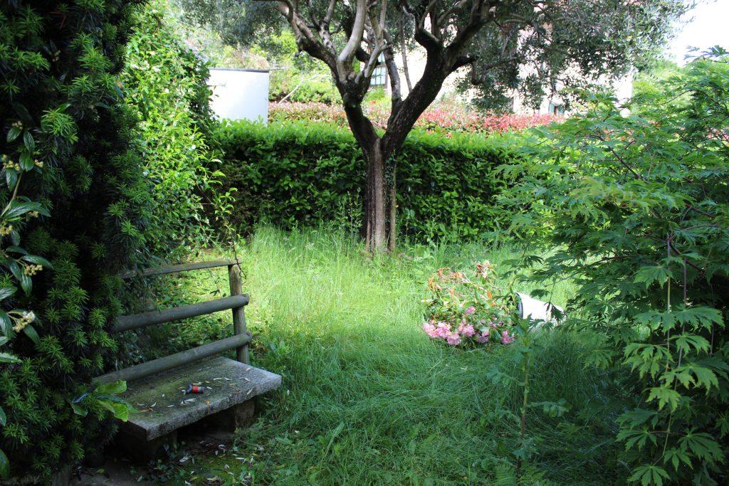 Terrazzo giardino prima intetrvento verdedesign.it azienda floricola donetti